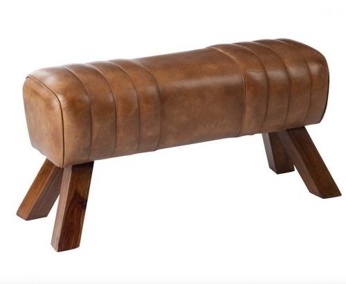 Leder-Sitzbank