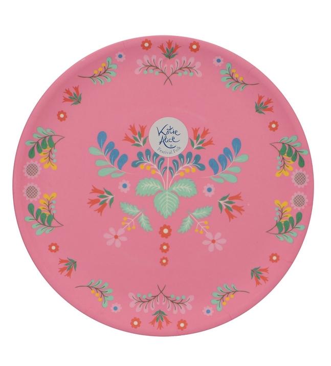 Sommerlicher Teller - rosa