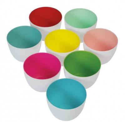 Teelichter bunt aus Porzellan
