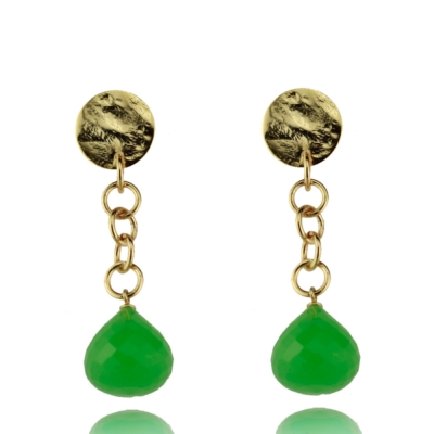 Ohrringe mit grünem Chalcedon