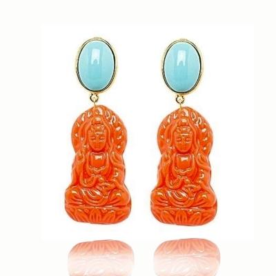 Türkis - oranger Buddha