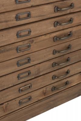 Schubladenschrank mit Glasabdeckung