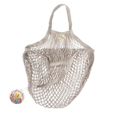 Netzeinkaufstasche in hellgrau aus Biobaumwolle