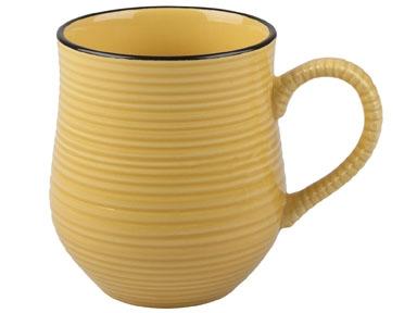Keramikbecher in gelb