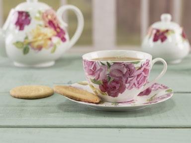 Tasse und Untertasse - Southbourne Rose