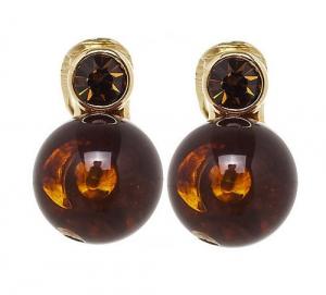Perle mit Chaton - braun