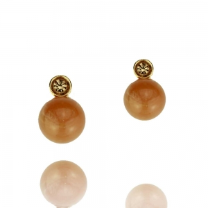 Perle mit Chaton - honig