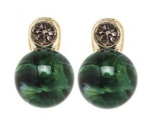 Perle mit Chaton - grün