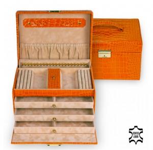 orangener Schmuckkoffer
