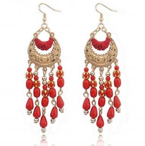 Ohrring in rot und gold