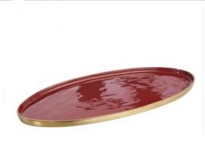 Rotes Tablett