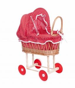 Puppen-Stubenwagen rot