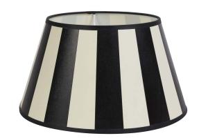 Streifenschirm oval oder rund in schwarz-weiß