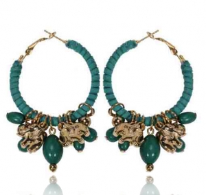 Ohrringe in grün und gold
