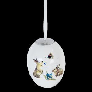 Keramik-Ei mit Häschen