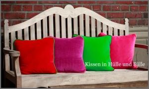 Farbenfreudige Kissen zum Selbstdesignen!