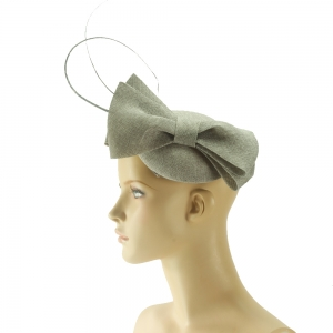 Fascinator - graue Schleife