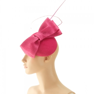 Fascinator - pinke Schleife
