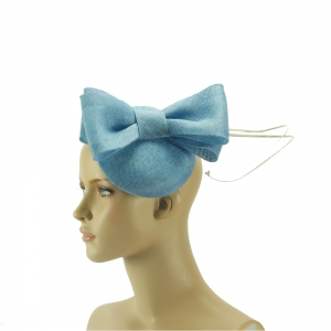 Fascinator - hellblaue Schleife