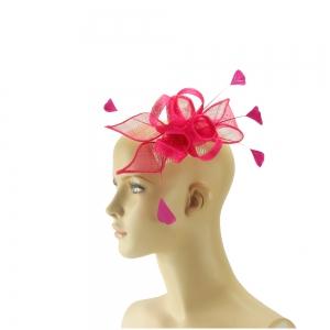 Fascinator - pink mit Feder