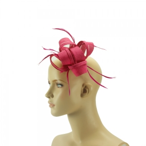 Fascinator - Knoten - pink