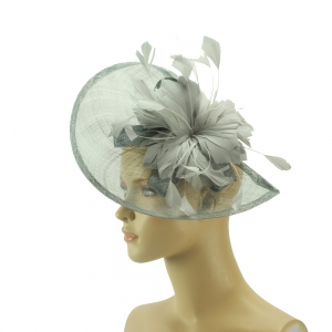 Fascinator - graue Eleganz