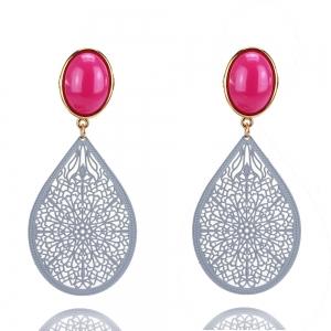 Pink und Flieder - Ohrclips