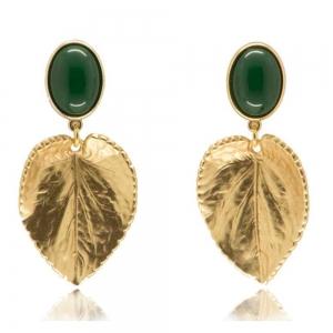 Blatt - grün - Ohrclips