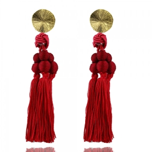 Long Long Red Tassel