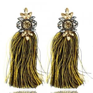 Statementohrringe in gelb-schwarz