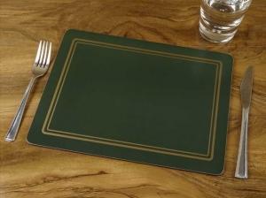 6 Unifarbene Tischsets in verschiedenen Farben