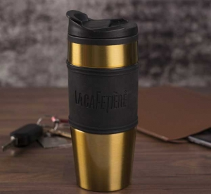 Thermosflasche in gold