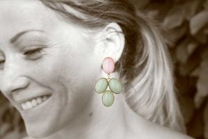Rosa-grüne Edelsteine