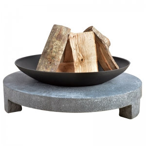 Feuerschale Granito mit rundem Sockel