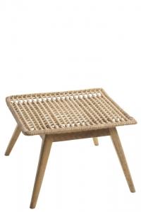 Tisch aus Rattan und Mangobaum