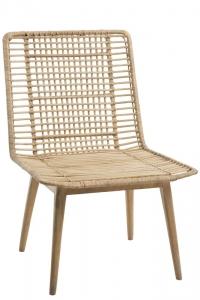 Stuhl aus Rattan und Mango