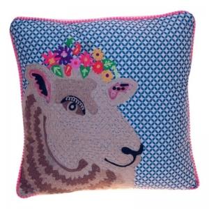Kissen mit Schaf, gestickt