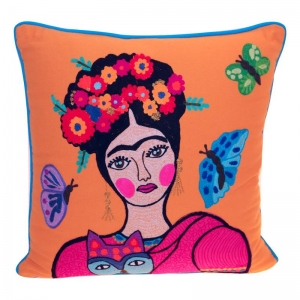 Frida auf orange