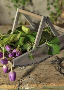 Blumenpflückkorb aus Holz