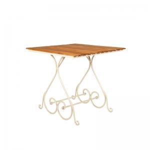 Bourmant - Tisch aus Teak und Eisen