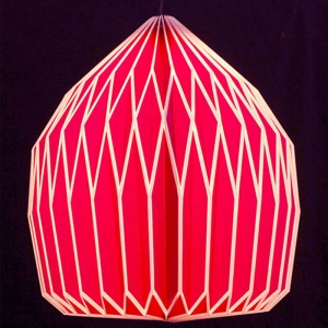 Papierlampe in pink