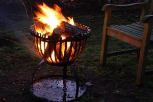 Feuerkorb in Tulpenform