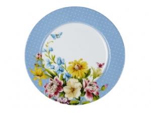Frühstücksteller - English Garden - blue