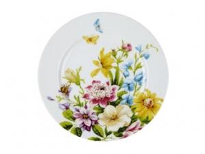 Frühstücksteller - English Garden - white