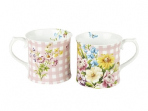 Becher - English Garden - pink