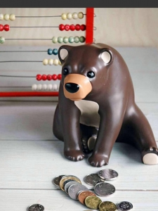 Börsen-Bär-Spardose