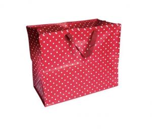 XXL Tasche rot mit weißen Punkten