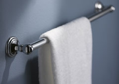 klassischer, kurzer Handtuchhalter
