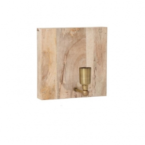 Wandlampe aus Holz