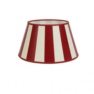 King rot- weiße Streifen in rund oder oval